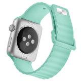 Hebilla cuadrada Nuevo patrón de silicona caucho Correa de reloj para Apple ver