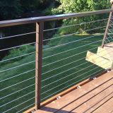 De Balustrade van de Draad van het Ontwerp van het Traliewerk van het Roestvrij staal van het balkon voor Veranda