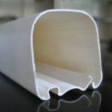 Perfil plástico do PVC da forma do quadrado branco da extrusão