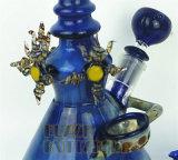 Bécher de verre de grand luxe du tuyau de tuyaux d'eau magnifique tube droit