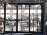Casement Alimunum сползая дверь качания с украшением решетки