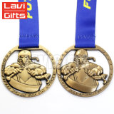 Medaglia lottante di sport del primo 2st 3st premio in lega di zinco su ordinazione poco costoso