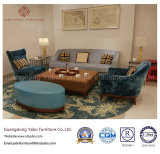 Muebles ocasionales del hotel para el salón del pasillo con el sofá fijado (HL-2-1)