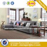 Mobiliário de escritório moda pernas de metal sofá de couro (HX-SN8079)