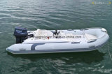 4.3m Small Fiberglass Rigid Inflatable Fishing Boat Rib Boat