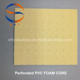 Перфорированные и корончатую ПВХ Core из пеноматериала