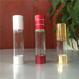 frasco cosmético plástico de 15ml 30ml 50ml com o pulverizador mal ventilado da bomba
