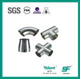 Accessori per tubi sanitari trasversali saldati dell'acciaio inossidabile