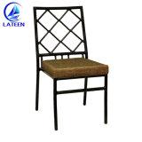 Banquete de núpcias Metal Golden Chiavari Tiffany Cadeira empilhável