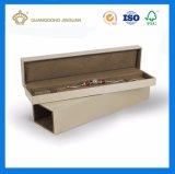 Свет - голубая коробка ожерелья бумаги вычуры подкладки с серебряной фольгой логоса (коробка подарка украшения ожерелья)