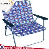 Silla de la percha del algodón para la silla blanca y azul casera del color