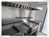 범위 두건을%s 가진 선반 Crepe 간이 건축물 트럭 트레일러를 가진 식품 가공기 피자 대중음식점