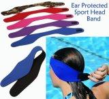 Logotipo personalizado da banda de orelha em neoprene à prova de natação com velcro