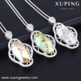 43151 de Sri Lanka Xuping Dubai Joyería de Bodas de Oro Blanco, cristales de Swarovski Collar indio diseños