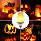 El fuego de la emulación de la bombilla 110V 220V del efecto de la llama de las lámparas de la llama de E27 que oscila LED enciende la lámpara decorativa 5W