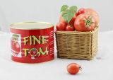 Goma de tomate roja fresca de la salsa de tomate Brix 28-30%