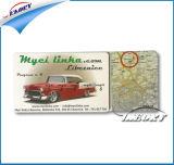 Impressão CMYK Lado Duplo Cartão de PVC com orifícios de perfuração