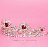 Новый устраивающих Rhinestone Короны Tiara Свадебные аксессуары красного кристалла Tiaras устраивающих аксессуары для волос