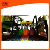 Новый крытый детская площадка с пластиковой туннеля слайд