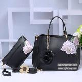 De Handtassen van de Dames van de Handtas van de Hand van China van de Handtassen van Groothandelsprijzen en van het Merk van de Manier van de Ontwerper van de Zak met Bloem en BinnenPortefeuille Sh341