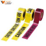 Логос ленты барьера PVC для таможни напечатал предупреждающий ленту маркировки пола трубопровода