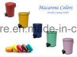 pattumiera rotonda dell'acciaio inossidabile di colore di 7L Macarons per la casa e l'hotel
