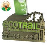 Qualität schnitt Decklack-Metalllaufende Medaille mit Übertragung gedruckter Abzuglinie heraus