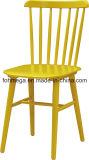 Цветные полосы назад деревянный обеденный стул с высокой задней панели
