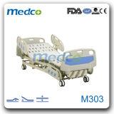 Manuel de l'ICU Multi Luxe fonctionnel de l'hôpital lits de soins du patient avec 3 manivelles