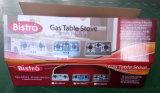까만 강화 유리 위원회 750-06를 가진 3개의 가열기 테이블 가스 스토브