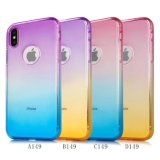 Due cassa graduale calda del telefono mobile di colori TPU per il iPhone