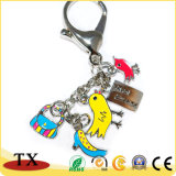 Design de Moda de esmalte suave da etiqueta de Chave de cadeia de chaves personalizadas