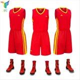 Jfcのバスケットボールのユニフォームのカスタムバスケットボールのジャージは人のための赤い昇華バスケットボールのジャージを設計する