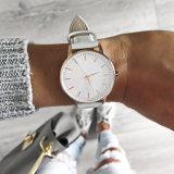 Grande montre personnalisée d'acier inoxydable de cadran de dames