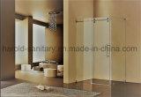Singola baracca dell'acquazzone di vetro di scivolamento di disegno di lusso