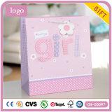Bolsa de papel rosada del regalo del arte del almacén de ropa del bebé