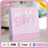 Baby-rosafarbenes Bekleidungsgeschäft-Kunst-Geschenk-Papierbeutel