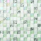 Mattonelle Polished della parete del mosaico di marmo di ceramica di vetro nero