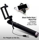 Extendable Handheld связанная проволокой Monopod ручка Selfie с кабелем