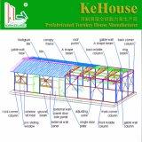 Structure en acier léger personnalisé EPS maison préfabriquée en panneau sandwich pour des bureaux temporaires
