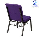 販売の慰めファブリッククッション教会椅子の金属フレーム