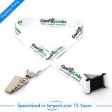 Sagola stampata personalizzata del collo del poliestere con cifrato chiudibile a chiave della clip ricamata