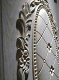 La parte superior de la puerta de madera en el interior de China para sala de Villa (DS-8003)