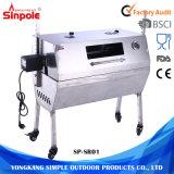 BBQ van Rotisserie van het Spit van het Varken van de Houtskool van de Barbecue van het roestvrij staal 60kg Grill