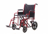 Heavy Duty, Double Cross silla de ruedas / silla de transporte (YJ-010C)
