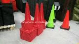 Cono colorido del tráfico del PVC