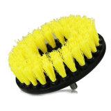 "Cepillo rotatorio del taladro "" de la potencia redonda resistente de la alfombra 5 con la cerda de nylon amarilla"