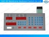 Interruptor feito sob encomenda do teclado de membrana do diodo emissor de luz com conetor de Nicomatic