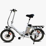 Vélo électrique se pliant de bicyclette de moteur de gros de pneu croiseur électrique de plage