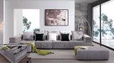 Sofà di legno moderno domestico del tessuto della mobilia del salone